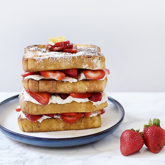 Strawberry Lemon Stuffed French Toast