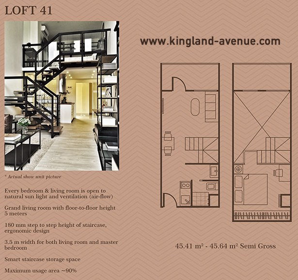 Kingland Avenue Serpong Dijual Tipe Loft 41