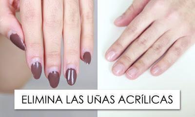 quitar uñas acrilicas