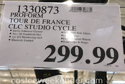Costco 1330873 - Pro-Form Tour de France CLC Smart Indoor Cycle: great for any home gym
