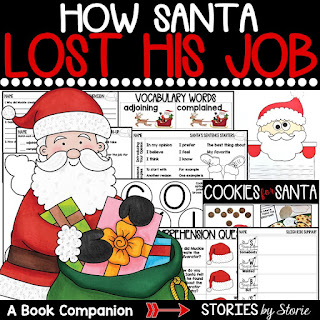 This book companion for How Santa Lost His Job contains comprehension questions, vocabulary words, graphic organizers, and Santa craft that can be paired with an opinion writing assignment.