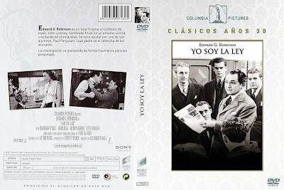 Yo soy la ley | 1938 | I Am the Law | Caratula / Cover Dvd
