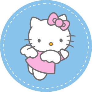 Hello kitty invitation party and cake topper best gift for Hello kitty cupcake topper template