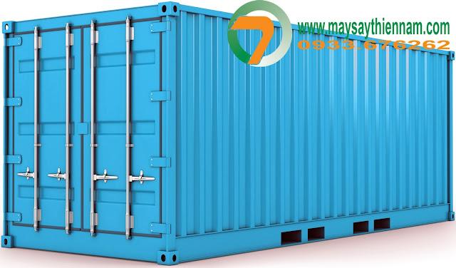Thùng container làm máy sấy nông sản