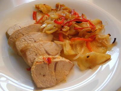 Tomillo laurel y otras cosas de comer solomillo de pavo for Solomillo al horno facil y rapido