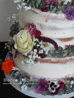 bolo flores naturais comestiveis bragança