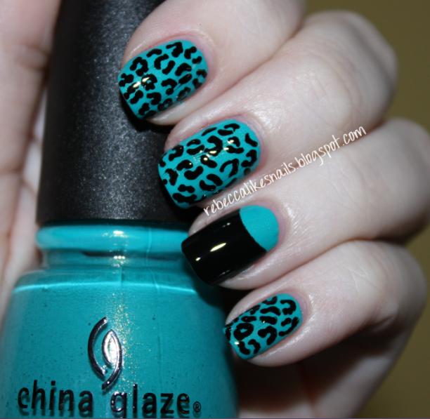 rebecca likes nails: China Glaze  Custom Kicks + nail art!