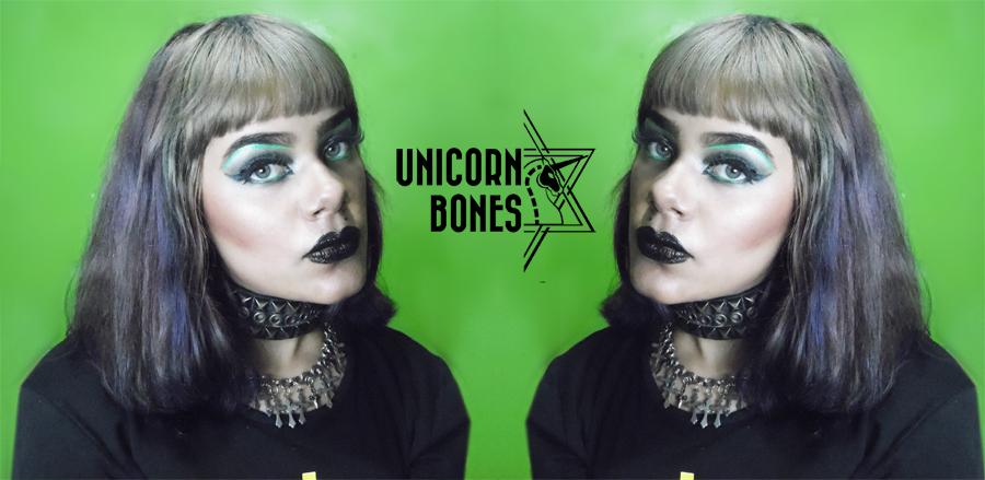 Dark and Green Makeup