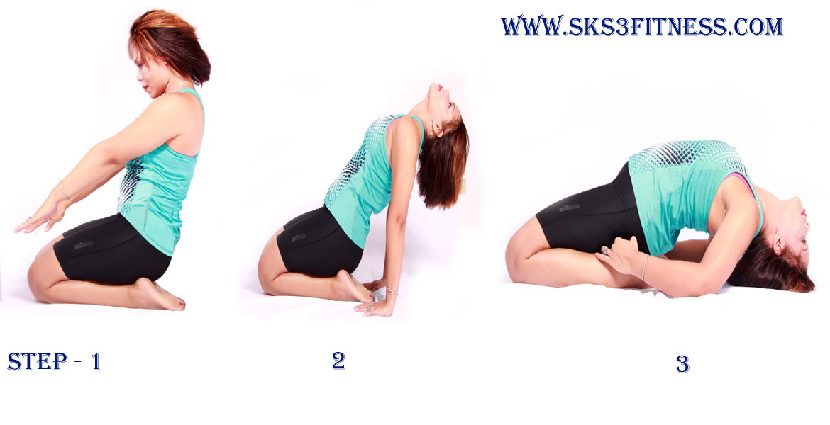 A Girl Doing Yoga Step By How To Do Reclined Thunderbolt Pose Supta