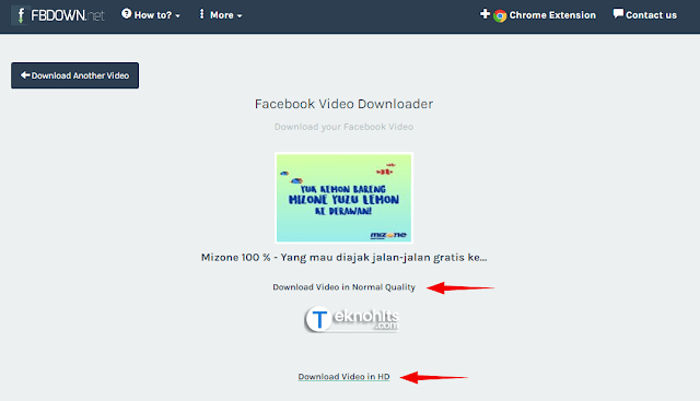Download video facebook kualitas Video Normal dan Video HD