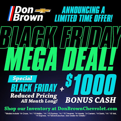 Don Brown Chevrolet Black Friday Mega Deal