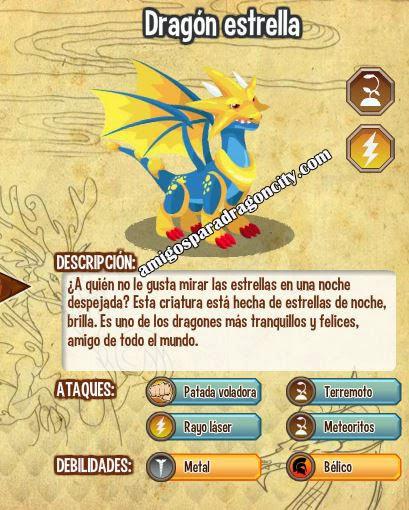 imagen del dragon estrella y sus caracteristicas
