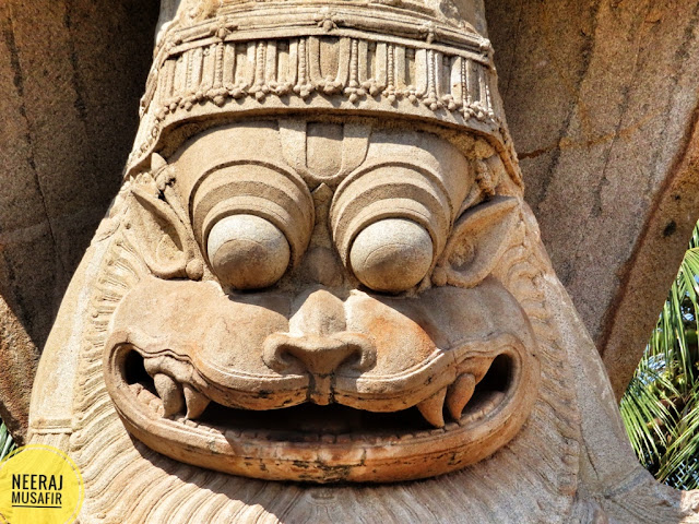 Narasimha Face in Hampi