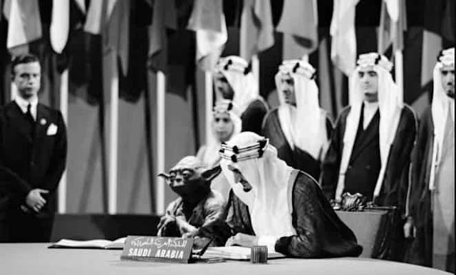 DOCTORED IMAGE OF YODA BESIDE KING FAISAL