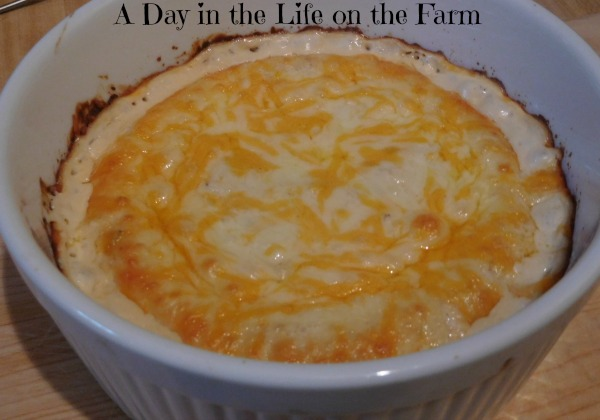 ... this Spicy Crab Dip, to hold people over until dinner was served