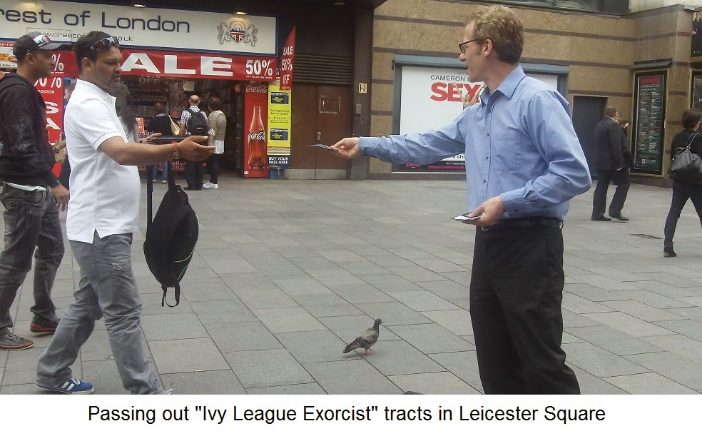 Leicester square passing out handbills