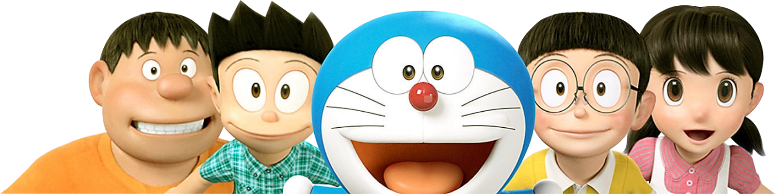 Doraemon Nobita Shizuka Suneo Gyan Friends forever