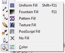 Mengenal bagian CorelDRAW - Fill Tool
