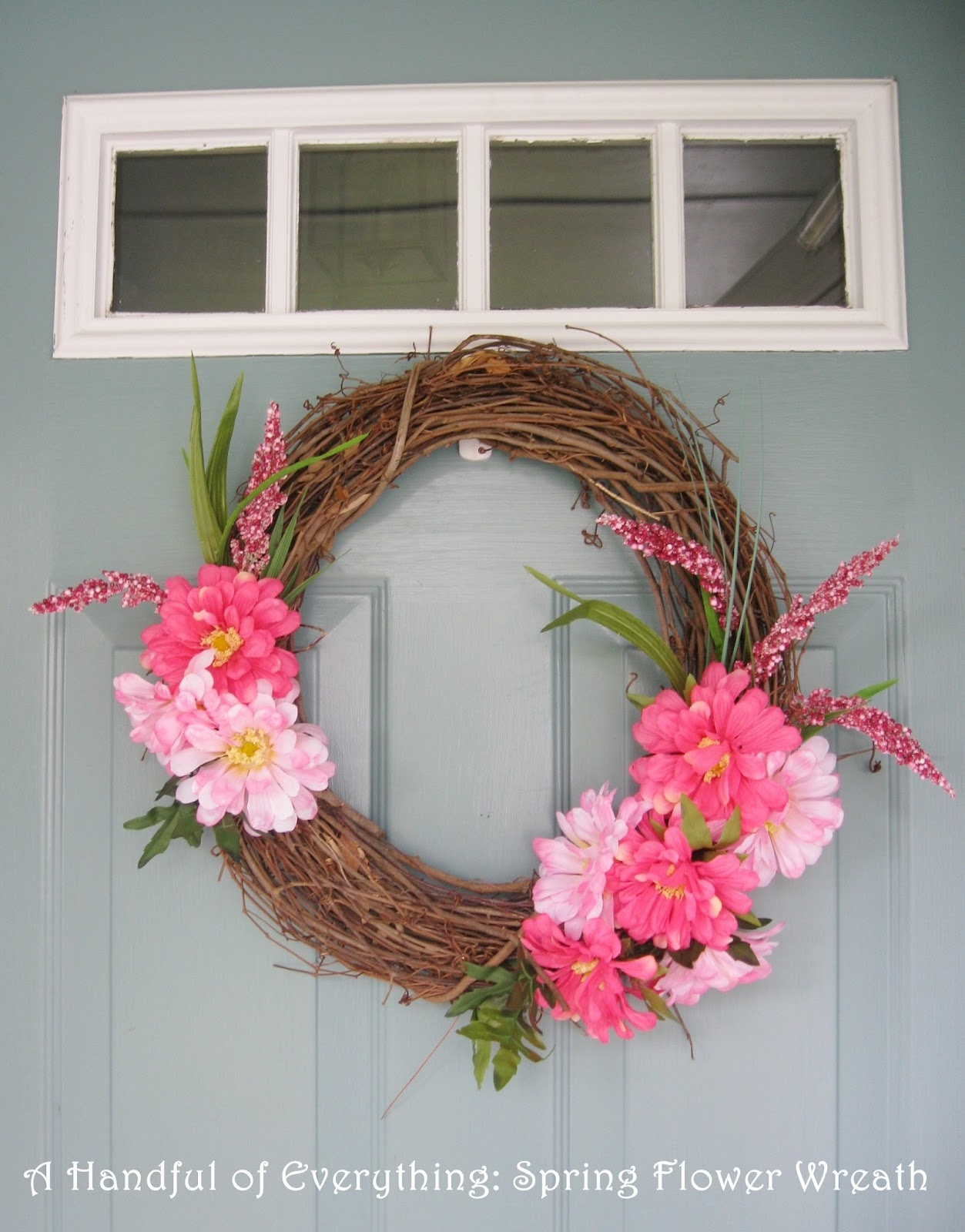 Modern Spring Floral Wreath |Spring Flower Wreath