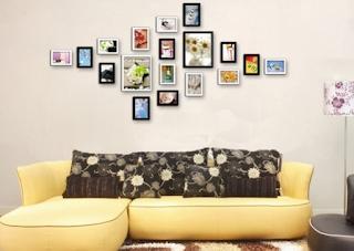 cara menghias dinding ruang tamu