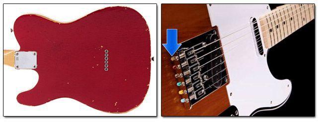Telecaster con las Cuerdas Introducidas por la Parte Trasera de la Guitarra o por la Parte Trasera del Puente