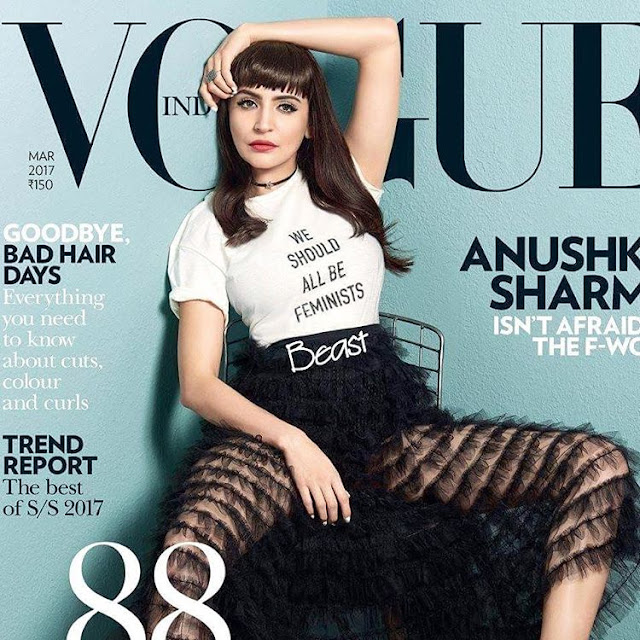 Anushka Sharma on the cover of Vogue India MArch 2017