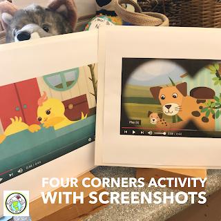 Four Corners Screenshot Activity for Spanish class