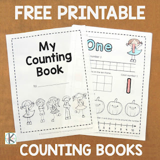 Fall Counting Worksheets Freebie for Preschool Kindergarten