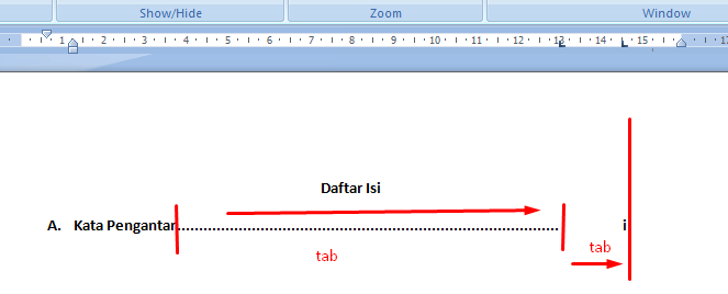 Membuat titik-titik daftar isi otomatis dan rapi | Portal