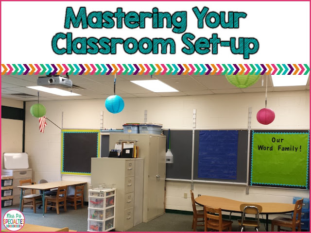 The correct classroom set-up can help your year go smoother.  Make your furniture work for you by arranging it in a way to improve student focus. These ideas are especially helpful for special education classrooms, self-contained classrooms and early elementary classrooms.