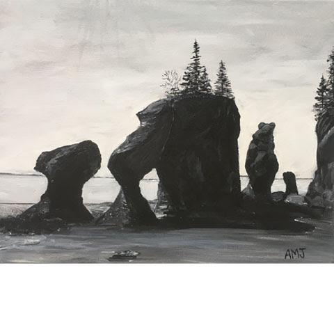 "Hopewell Rocks-5""x7"" Art Card"