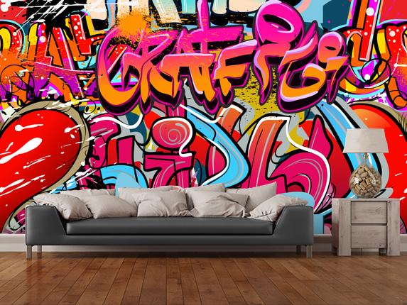 tapet graffiti ungdomstapet