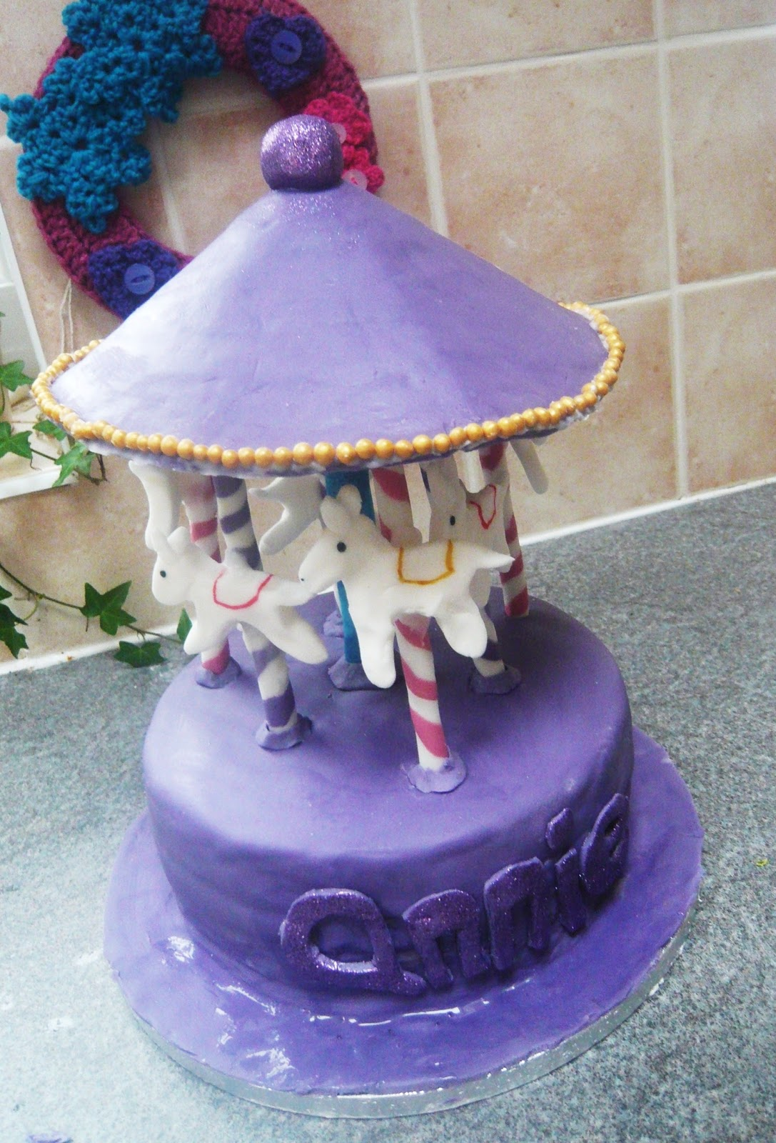 Wheats And Sweets Carousel Birthday Cake