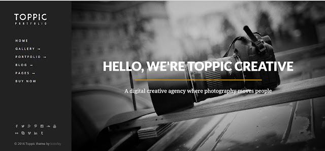 Toppic Responsive wordpress theme for Photography