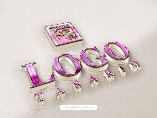 3D logo tasarımı parlak renkli