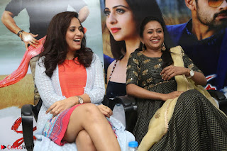 Actress Suma in Black Salwar Suit and Anusuya in orange Dress at winner movie press meet part 2 February 2017 (62).JPG