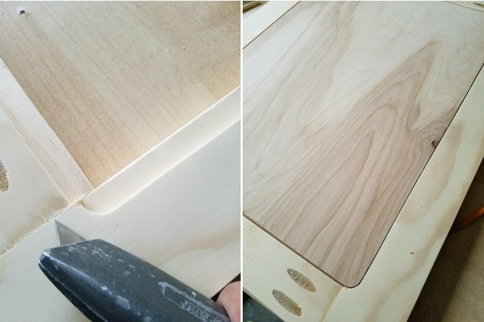 installing the panel in cabinet doors