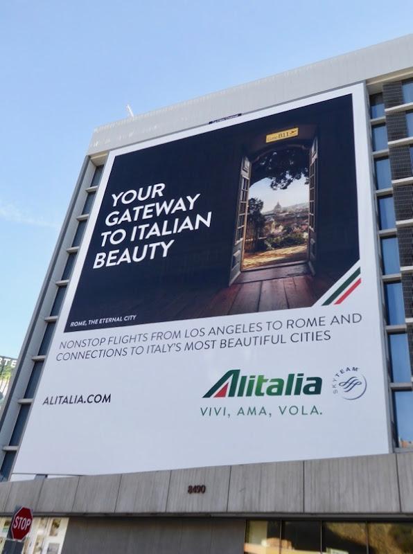 Giant Alitalia gateway to Italian beauty billboard