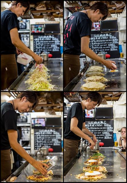Elaboración de Okonomiyaki :: 4 x Canon EOS5D MkIII | ISO800 | Canon 50mm | f/3.2 | 1/50s
