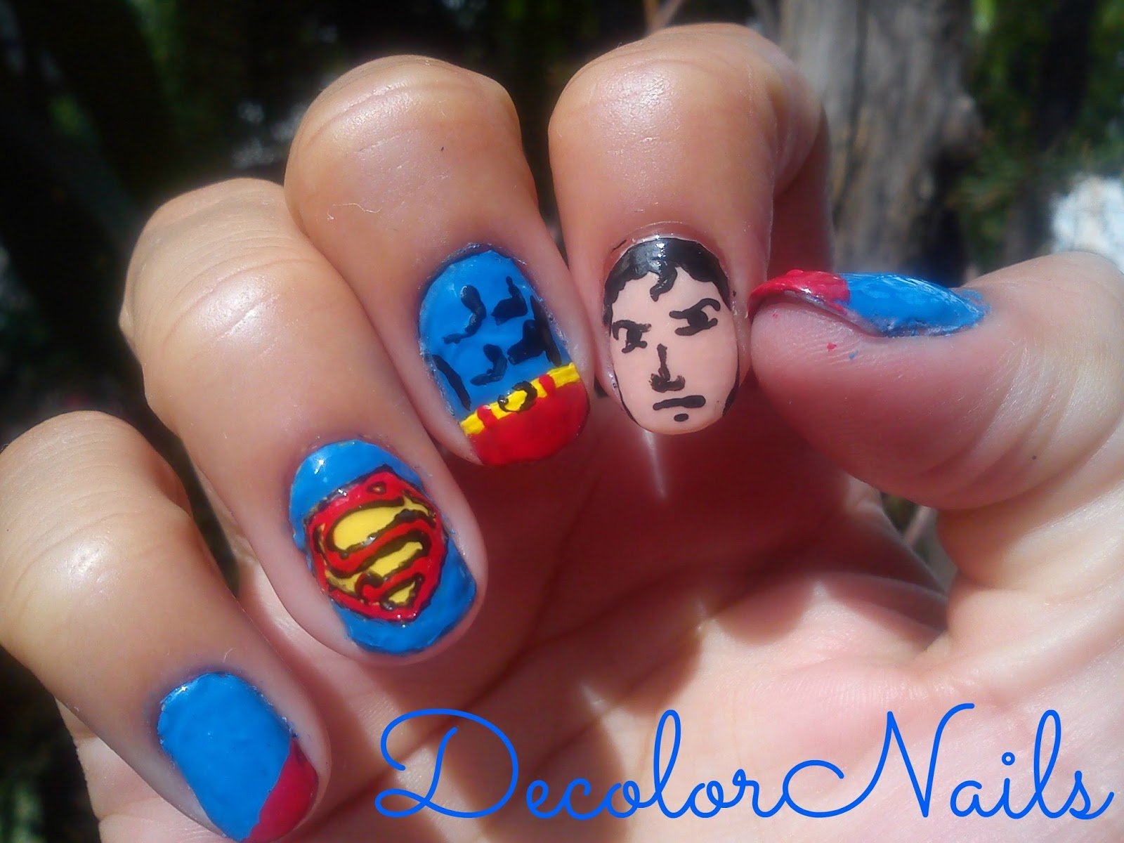 Decolornails Reto Villanos Y Superheroes Superman