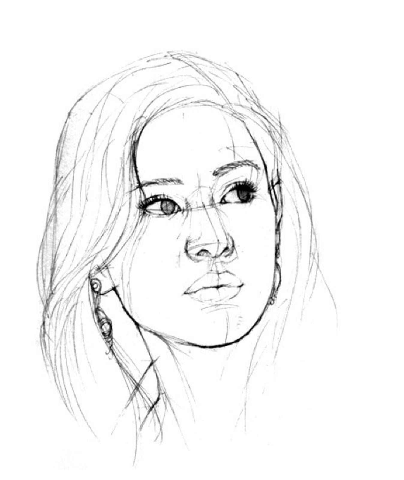 Step By Step Menggambar Wajah Portrait Drawings