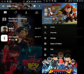 BBM Mod BoboiBoy v2.13.1.14 Apk Terbaru