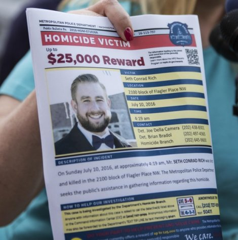 DC police initially put up a $25,000 reward for Seth murder