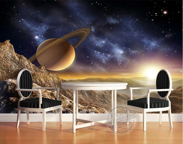 Space Wall Mural Planets Photo Wallpaper 3D