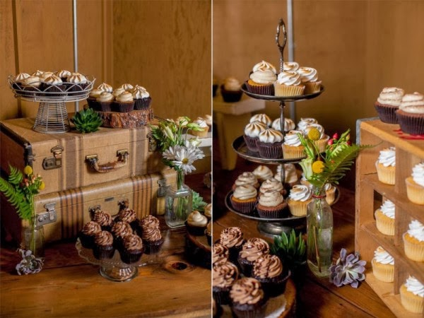 rustic wedding dessert idea