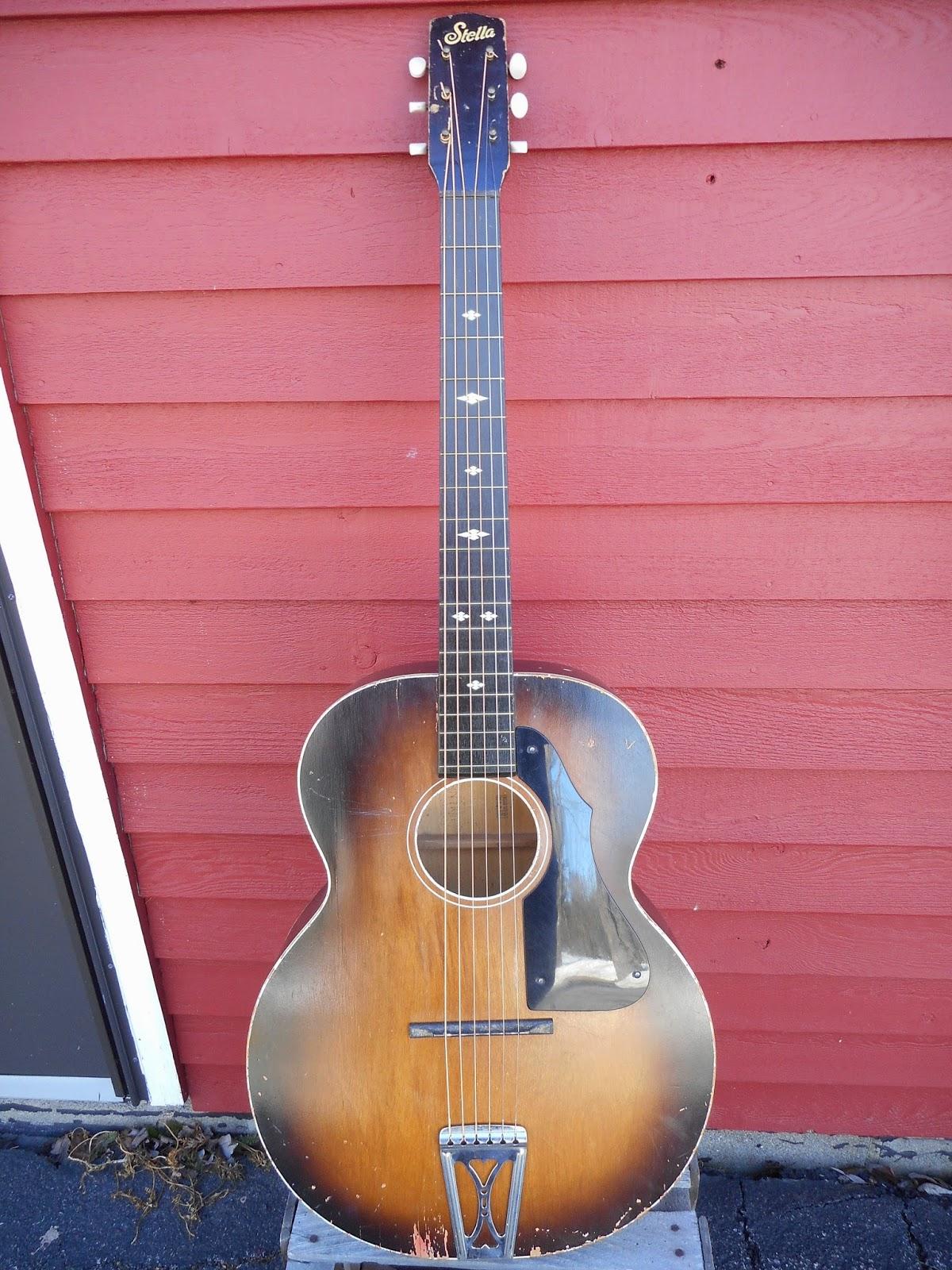 your grandpa 39 s guitar stella harmony h1105 grand concert acoustic guitar. Black Bedroom Furniture Sets. Home Design Ideas