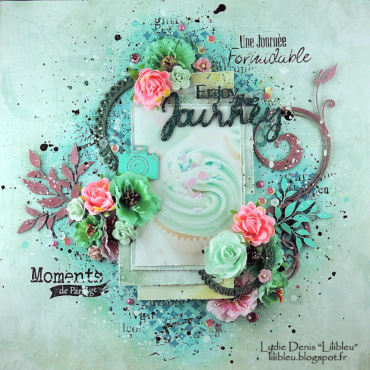 "Page ""Enjoy The Journey"" - DT 2 Crafty Chipboard."