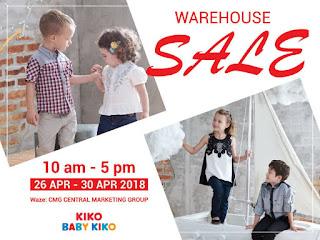 Kiko & Baby Kiko Warehouse Sale 2018 sales