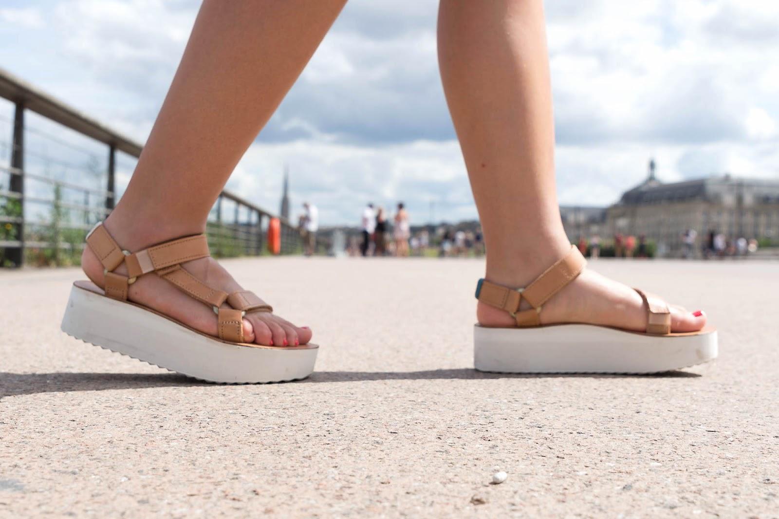 Sandales Teva plateforme