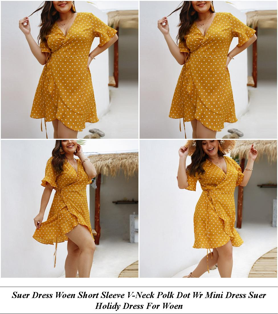 White Spring Dresses For Juniors - Casual Clothing Online Store - Lack Formal Dresses With Sleeves